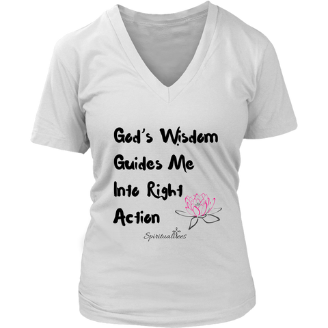 God's Wisdom Guides Me Women's V-Neck