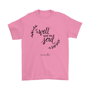 It Is Well With My Soul Men's T-Shirt [Black]