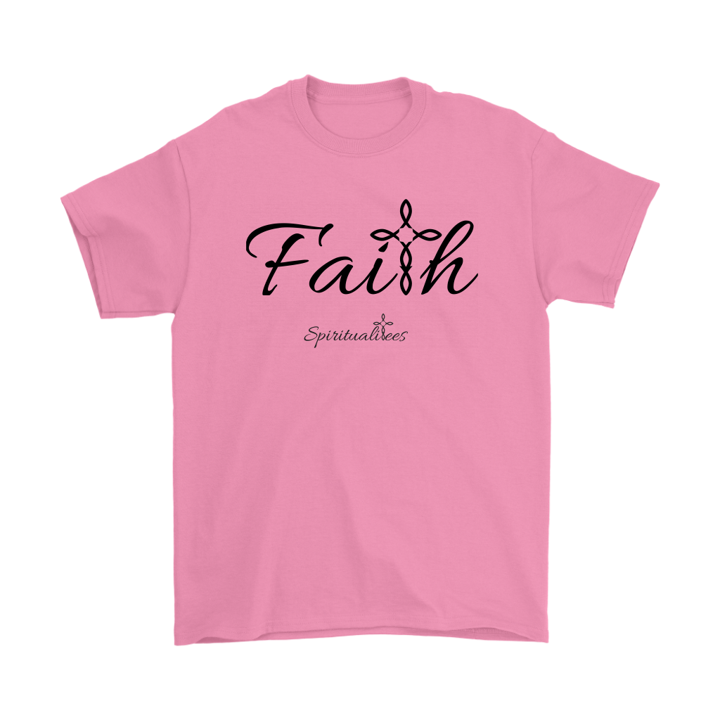 Faith Men's T-Shirt - Spiritualitees [Black]