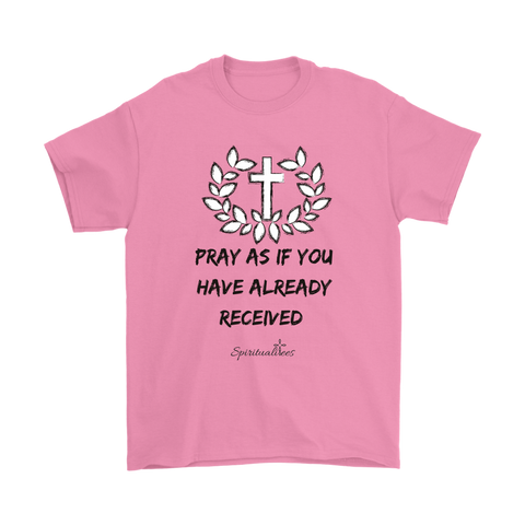 Pray As If Men's T-Shirt [Black]
