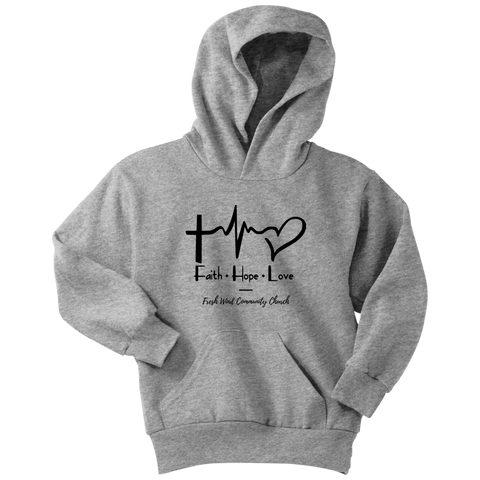 Fresh Wind Youth Hoodie - Faith Hope Love