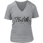 Truth Women's V-Neck - Frees Me [Black]
