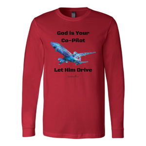 God Is Your Co-Pilot Long Sleeve [Black]