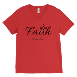 Faith Men's V-Neck - Spiritualitees [Black]
