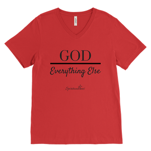 God Over Everything Else Men's V-Neck [Black]