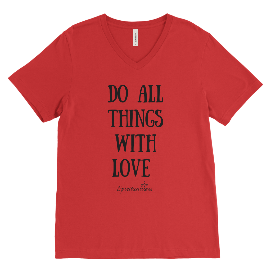 Do All Things With Love Men's V-Neck