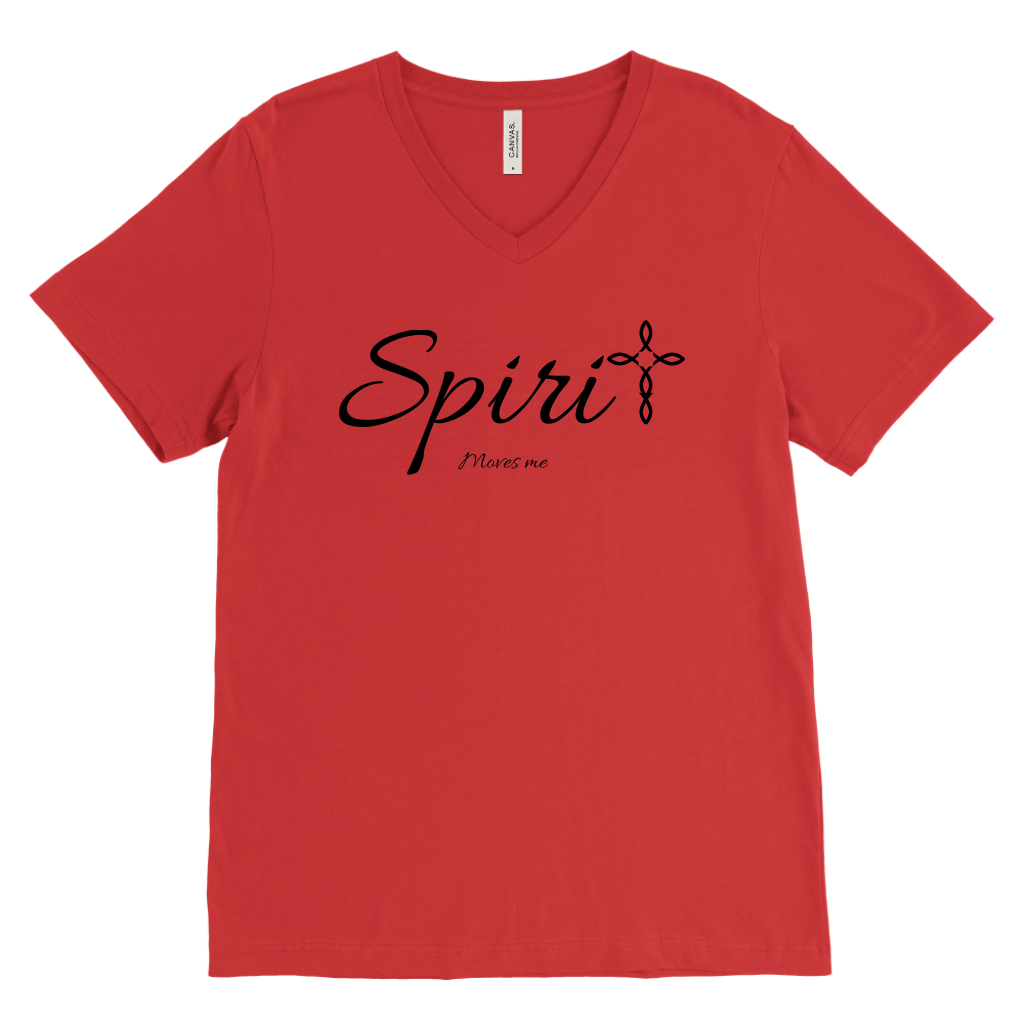 Spirit Men's V-Neck - Moves Me [Black]