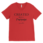Created With A Purpose Men's V-Neck