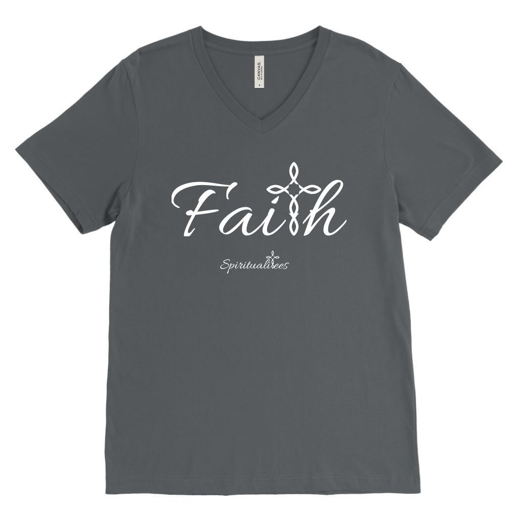 Faith Men's V-Neck - Spiritualitees