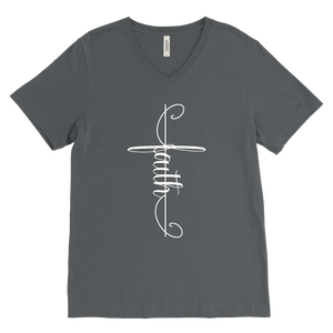 Faith Cross Men's V-Neck