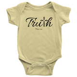 Truth Baby Bodysuit - Frees Me [Black]