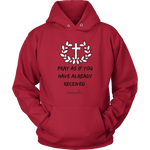 Pray As If Unisex Hoodie [Black]