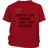Claim Your Birthright Youth T-Shirt [Black]