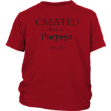 Created With A Purpose Youth T-shirt