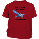 God Is Your Co-Pilot Youth T-Shirt [Black]