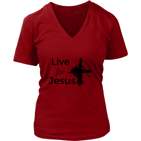 Live for Jesus Women's V-Neck