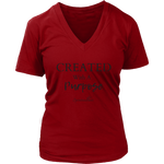 Created With A Purpose Women's V-Neck
