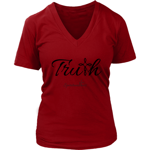 Truth Women's V-Neck - Spiritualitees [Black]