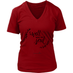 It Is Well With My Soul Women's V-Neck [Black]