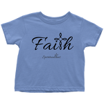 Faith Toddler T-Shirt - Spiritualitees [Black]