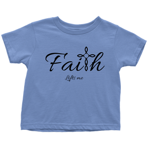 Faith Toddler T-Shirt - Lifts Me [Black]