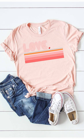Retro Love Tee - Pecan Hill Boutique