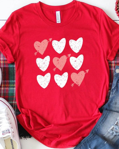 Heart Tic Tac Toe Tee - Pecan Hill Boutique