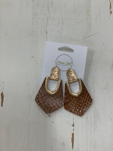 Snake Print Pointed Earrings - Pecan Hill Boutique