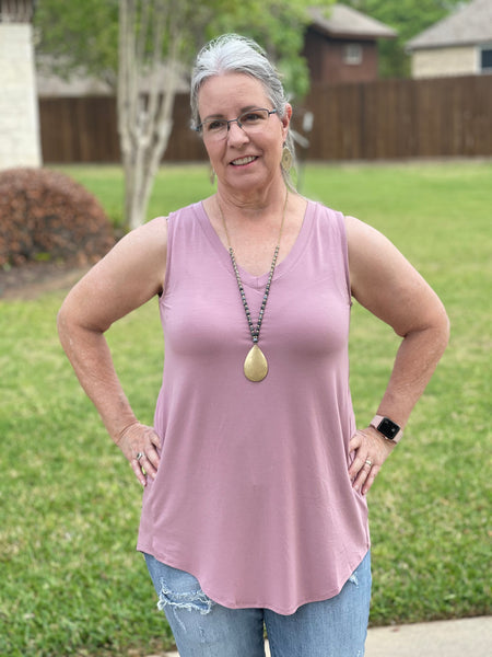 Light Rose Sleeveless Top - Pecan Hill Boutique