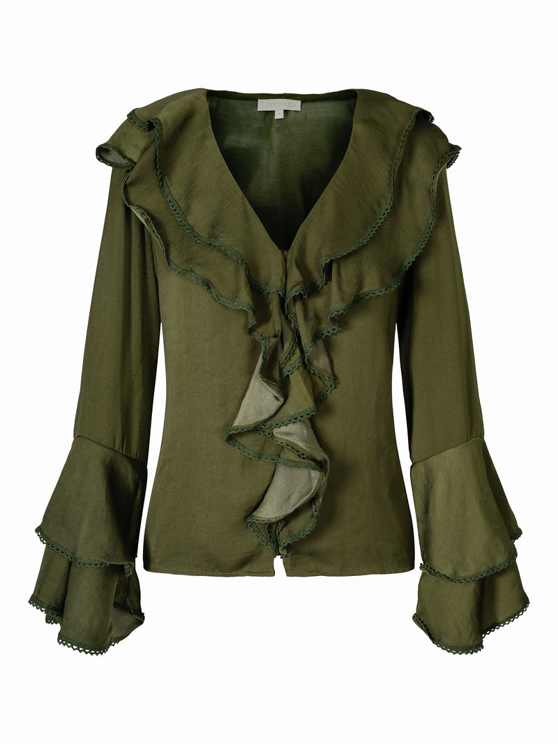 Corinne Blouse Army Green