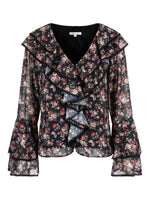 Corinne Blouse Black Rose