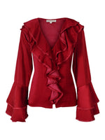 Corinne Blouse Misty Red