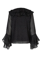 Corinne Blouse Black Gold