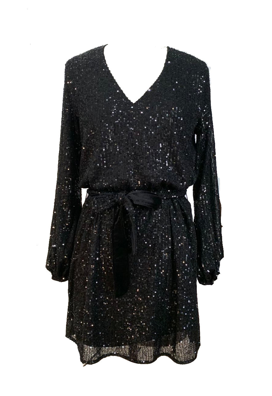 Harley Dress Black Sequins