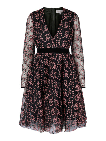 Kelly Dress Midnight Flower