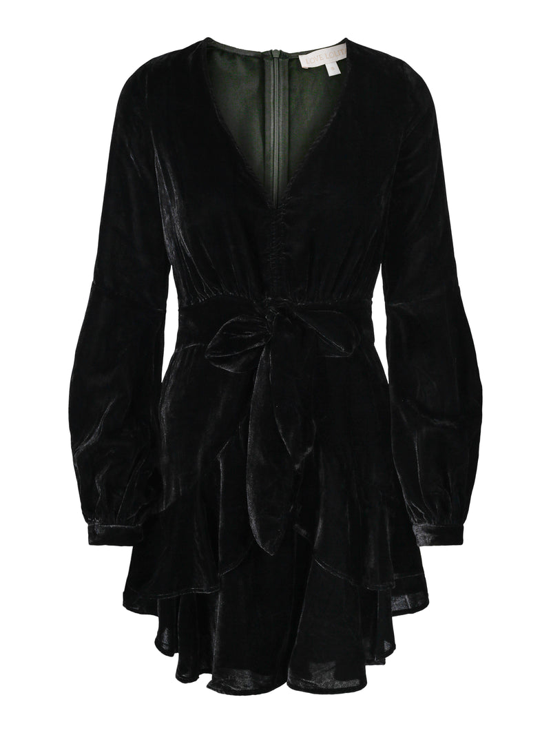 Ivy Dress Black Velvet