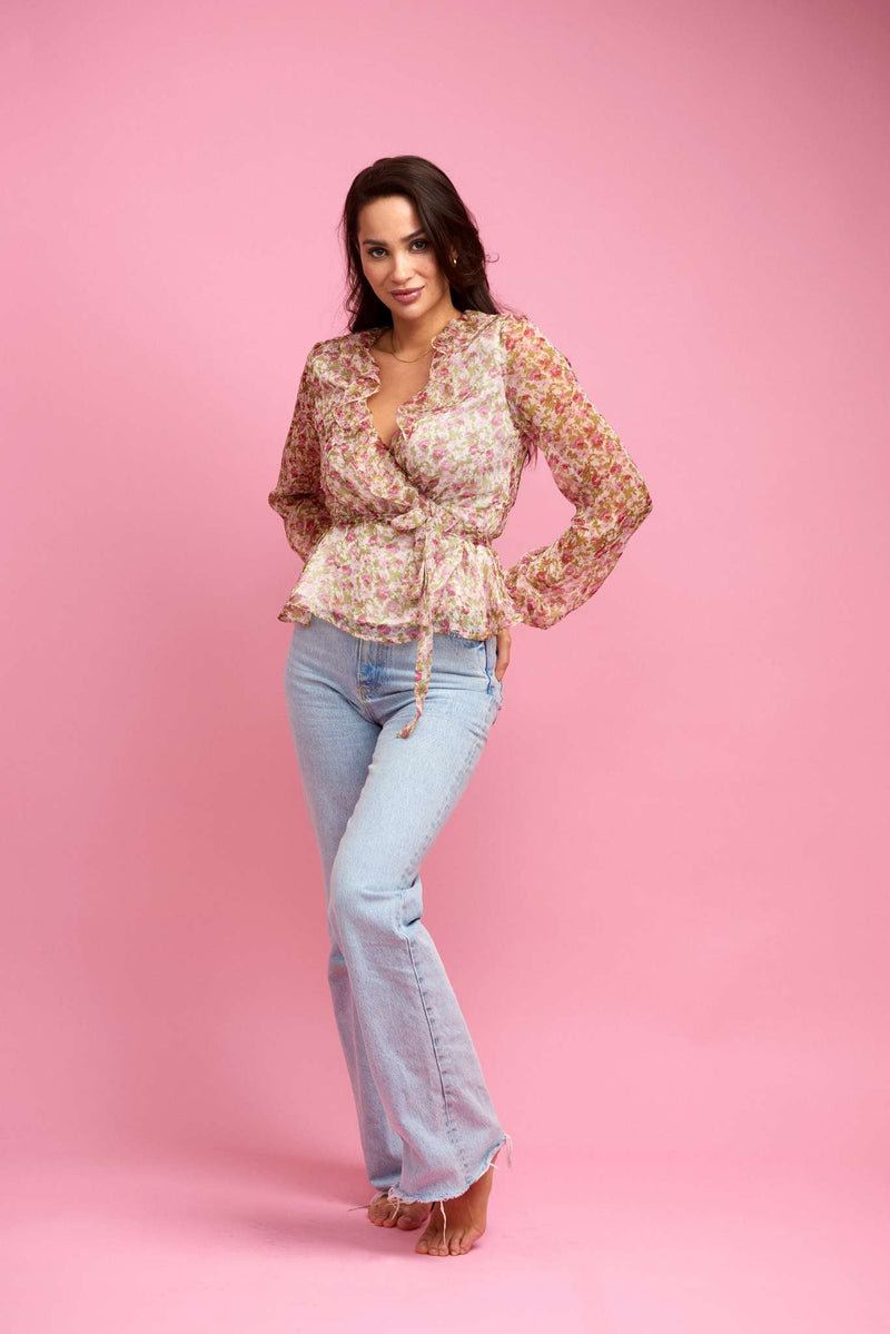 Kimmie Blouse Blooming Summer