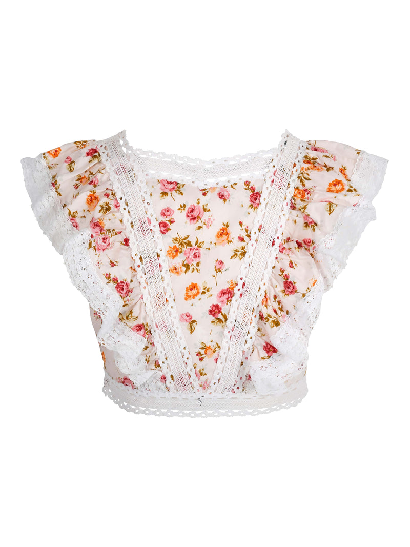 Melissa Top Pink Flower Bomb