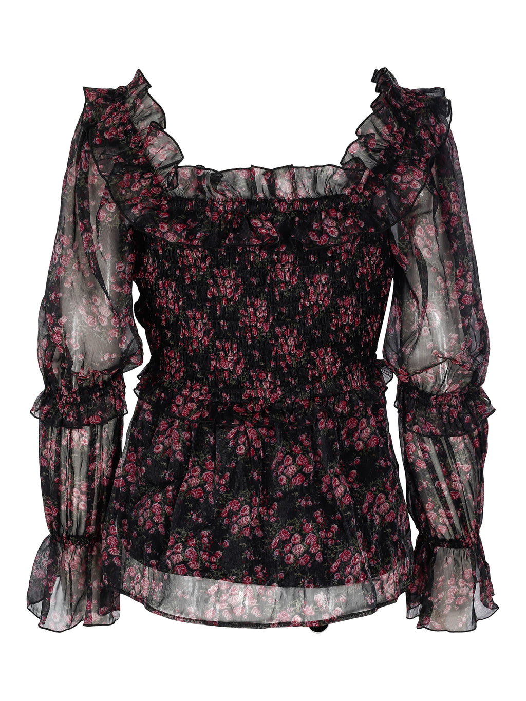 Love Lolita Naomi Blouse Black Flower