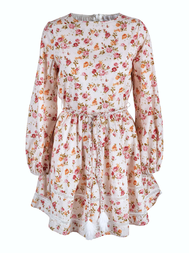 Sutton Dress Pink Flower Bomb