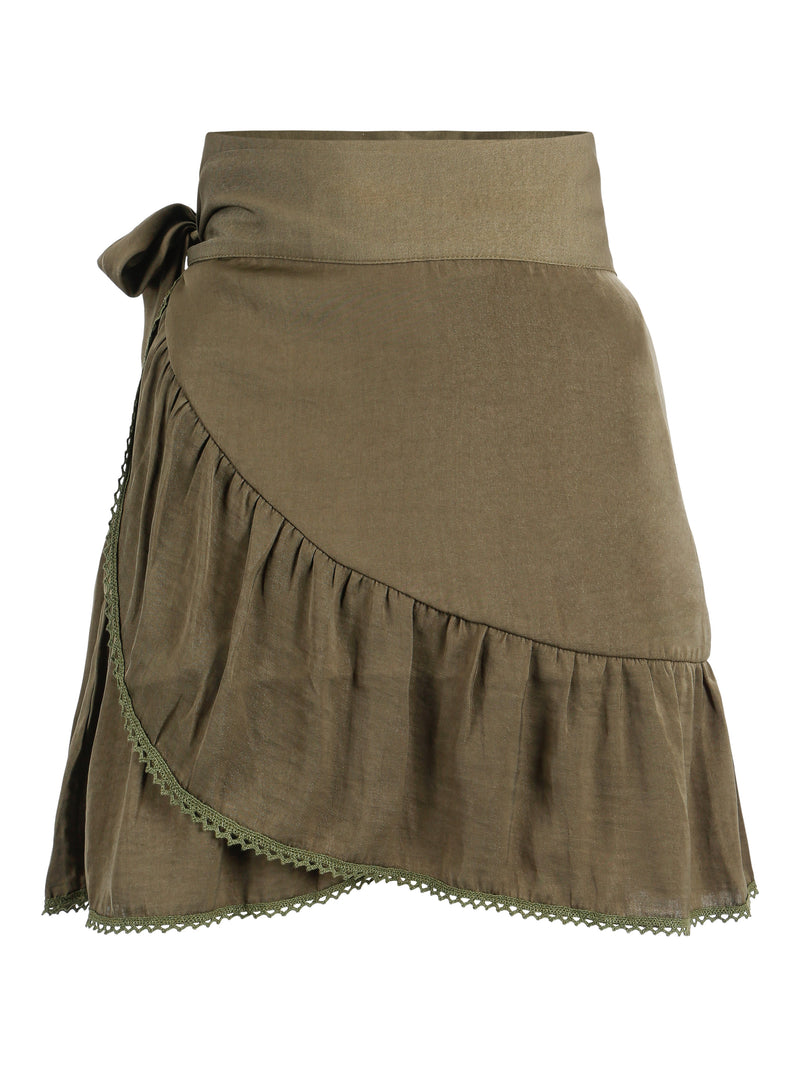 Violet Skirt Army Green