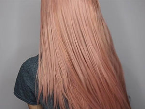 Glamorous Straight Pink Wig - rongcp