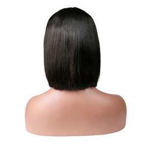 Lace Front Virgin Straight Bob Wig - rongcp