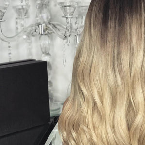 Gradual champagne color long hair - rongcp