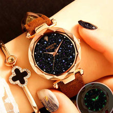 Fashion Quartz Watch Starry Sky Multicolor Leather Wristwatch - rongcp