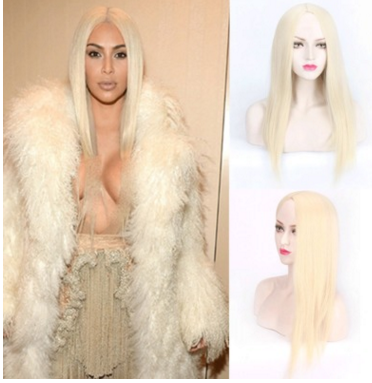 Platinum Blonde Straight Long Wig - rongcp