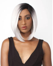"12"" New Ombre Grey Synthetic Short Bob Straight Lace Front Wigs Hair Wig - rongcp"