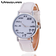 Vansvar Fashion Casual Ladies Leather Quartz Watch Mathematical Symbols Women Wrist Watches Relogio Feminino Gift 1447 - rongcp