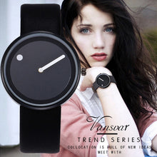 Vansvar Brand Minimalist Style Wristwatches Creative Design Dot and Line Simple Face Quartz Watches Gift Clock Relogio Feminino - rongcp