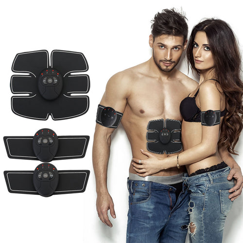 Abdominal machine electric muscle stimulator ABS ems Trainer fitness Weight loss Body slimming Massage with box - rongcp